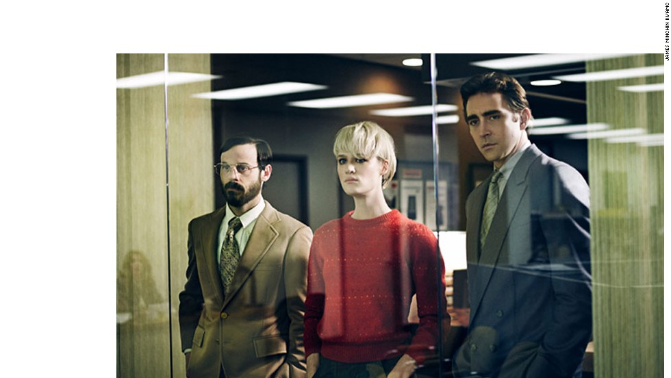 "It's the 1980s, and IBM is enjoying success a year after releasing its personal computer. In AMC's ""Halt and Catch Fire,"" a former IBM executive, Joe MacMillan (Lee Pace), right, decides to create a new competitive product with a new company and help from Gordon Clark (Scoot McNairy) and Cameron Howe (Mackenzie Davis). The show has been renewed for a second season."