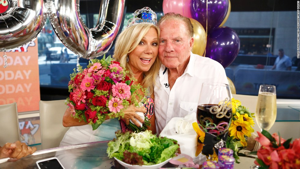 "Television personality Kathie Lee Gifford and former football player Frank Gifford had been married since 1986 until he died in 2015. In 1997, the couple's private life was thrust front and center when videotape emerged of an encounter between <a href=""http://www.people.com/people/archive/article/0,,20122296,00.html"" target=""_blank"">Frank and a flight attendant</a>."