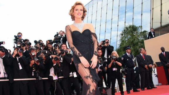Czech model Eva Herzigova raised a few eyebrows in this exposed lacy gown, but was forgiven, because it