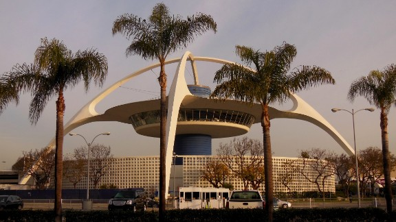 "The ""Theme Building"" at Los Angeles International Airport was meant to look like a spaceship, according to the University of Southern California. Designed by William Pereira, it was built in 1961 and served as a restaurant for years. iReporter Marie Sager remembers dining there 30 years ago."