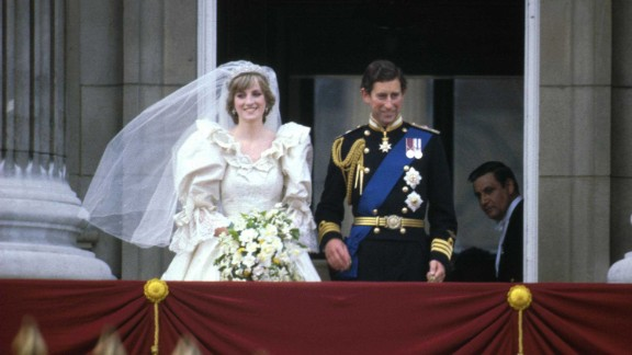 The wedding of Prince Charles and Princess Diana in 1981 was one of the most eagerly anticipated and watched in history. Here the newlyweds stand on the balcony of Buckingham Palace after their wedding at St. Paul's Cathedral in London. The marriage had plenty of drama before the two finally divorced in 1996.