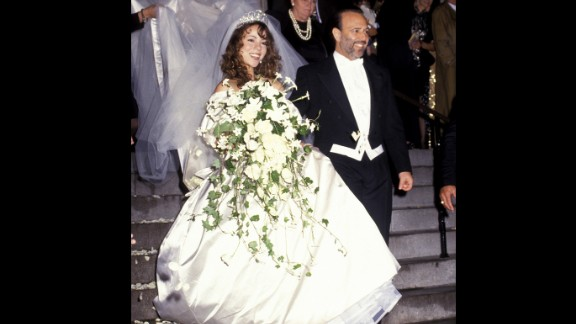 Experts estimated it cost about $500,000 when singer Mariah Carey wed her musical mentor Tommy Mottola at St. Thomas Episcopal Church in New York in 1993. They divorced in 1998.