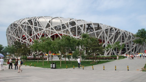 "Julee Khoo looks at Beijing's National Stadium, known as the Bird's Nest, and says it's ""amazing how difficult it was for humans to recreate something that a bird does instinctively."" The stadium, created for the 2008 Summer Olympics, is largely empty these days."