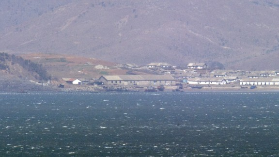[File] View of N.Korea's west coast from the S. Korea-controlled island of Yeonpyeong near the Yellow Sea on April 14, 2013.