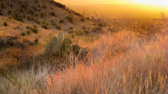 The Organ Mountain-Desert Peaks National Monument is near Las Cruces, New Mexico.