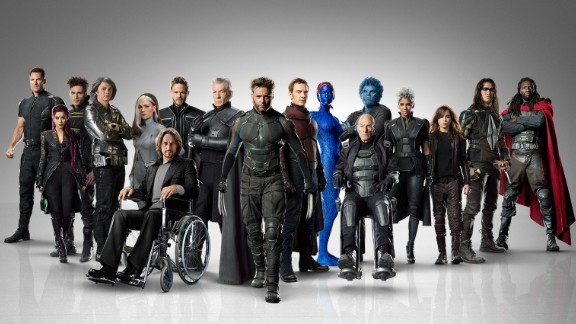 """Behold the massive cast of the 2014 film """"X-Men: Days of Future Past."""" The movie is based on a classic """"X-Men'""""storyline from the comic books. Because of the time travel element, it gathers characters from all of the previous """"X-Men"""" movies. Here's a look at the characters in their comic and film incarnations. (Some will reprise their roles in 2016's """"X-Men: Apocalypse."""")"""