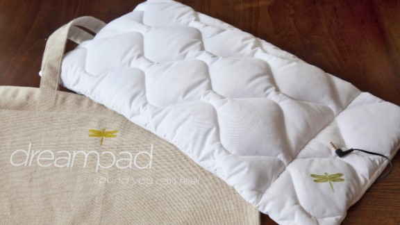 Dreampad turns your pillow into a speaker that only you can hear. Now you can lull yourself to sleep with sweet music transmitted through the fluff.