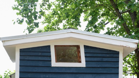 Sicily's father, Dane, was a commercial fisherman with a knack for woodworking. Rather than choosing a simple square window for her house's loft space, Sicily installed a window from his boat.