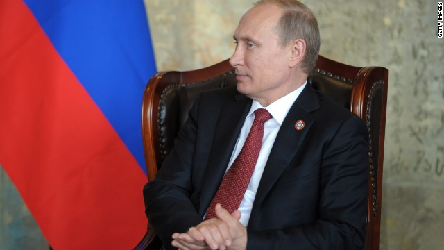 Russia's President Vladimir Putin attends a meeting on May 21, 2014.