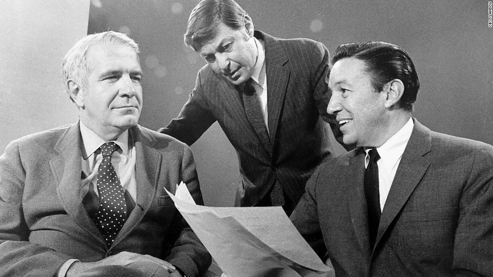 "In September 1968, the newsmagazine ""60 Minutes"" -- created and produced by Don Hewitt, center -- premiered with Harry Reasoner, left, and Mike Wallace, right. The tremendously influential show spawned a host of imitators and is still on the air today."