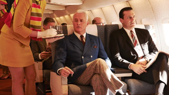 """Roger and Don take a trip in season 7 of """"Mad Men."""""""