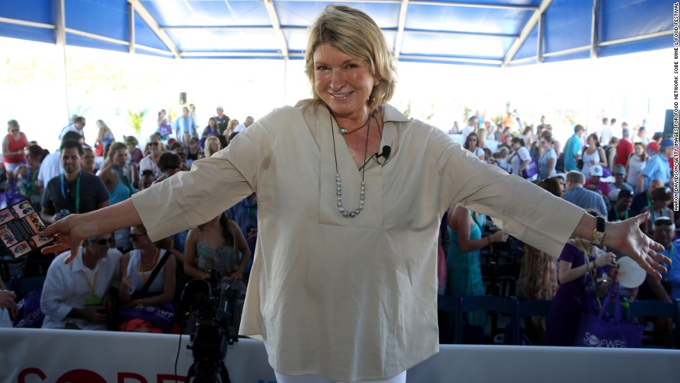 We are sure that in all of her years, Martha Stewart has enjoyed some tasty cuisine. The domestic doyenne is 73.