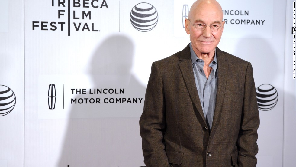 "O captain, our captain! Sir Patrick Stewart made hearts throb as the suave Capt. Jean-Luc Picard on ""Star Trek: The Next Generation"" and a few of the ""Star Trek"" movies. He's still looking fine at 74."