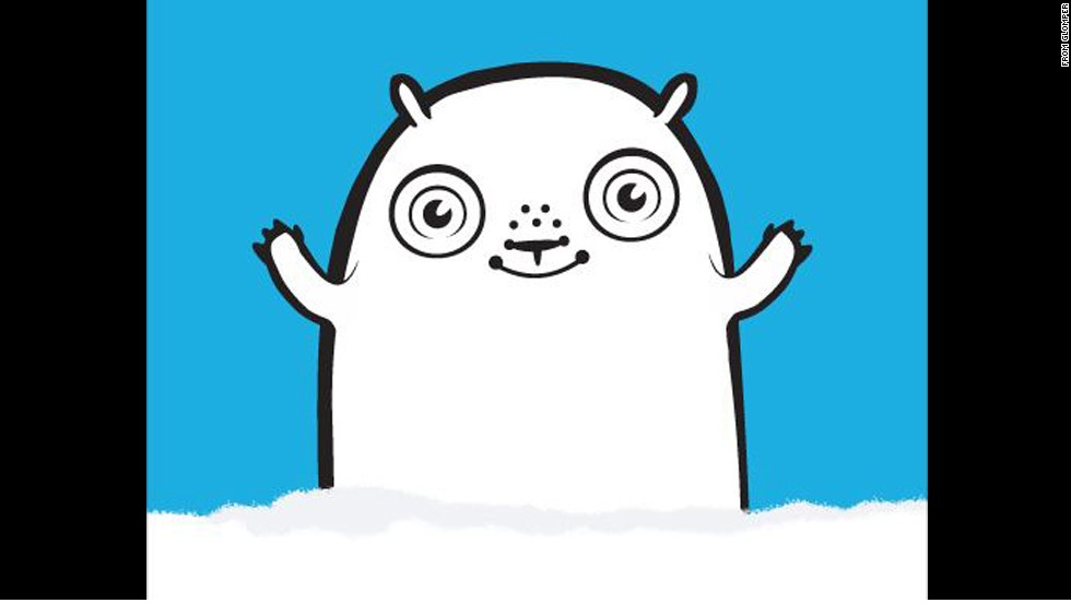 Social app Glomper launched with this mascot in 2012 as a way to share event-related plans with friends. We're not sure what this pudgy white thing with the ringed eyes is supposed to be.