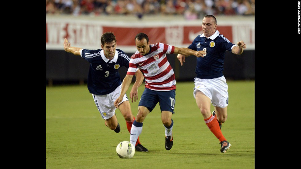 In 2012, Donovan led the United States to a 5-1 victory with his hat trick against Scotland during a friendly in Jacksonville, Florida.