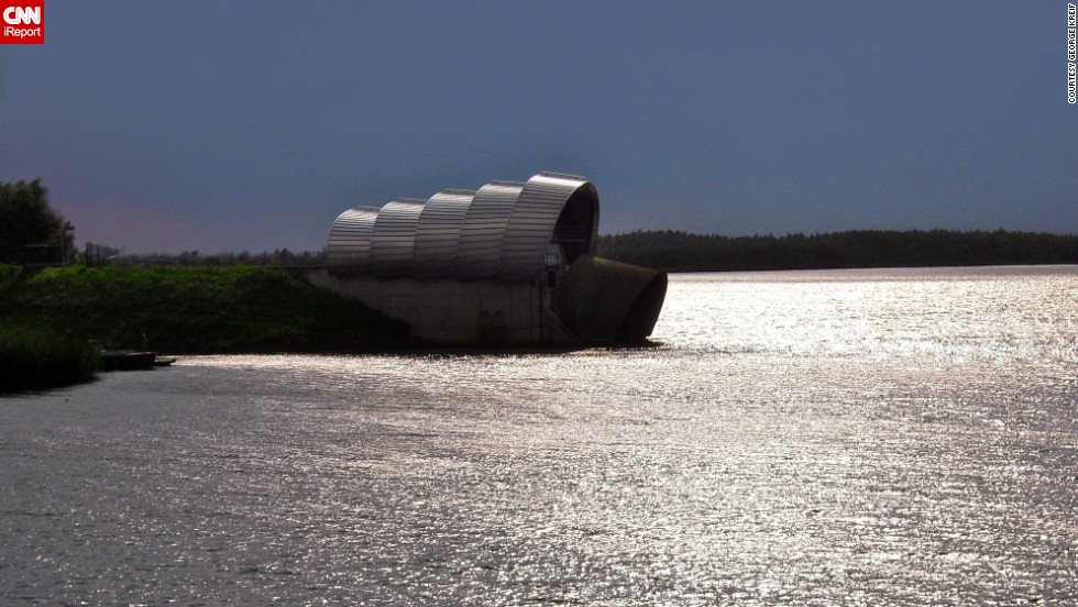 "The <a href=""http://ireport.cnn.com/docs/DOC-1128012"">Infocentrum De Balgstuw</a> is a floodgate in the Netherlands. These floodgates work as a barrier and are used in several parts of the country."