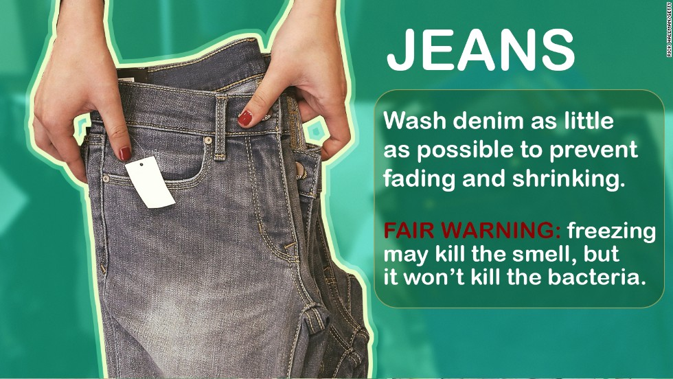 "Levi's <a href=""http://www.cnn.com/2014/05/22/living/dont-wash-jeans-levis-ceo/"">CEO Chip Bergh</a> said this week that he doesn't recommend washing jeans. Like, ever. Here are a few other things you can get away with not washing regularly, and some you should never skip."
