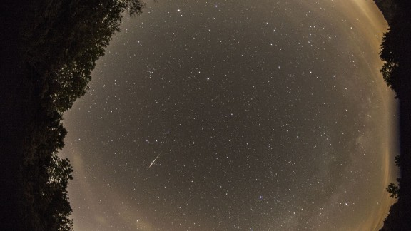 """Jean-Francois Gout had only one word to describe the Camelopardalids meteor shower: """"Disappointing!"""" He said he did manage to photograph a few meteors from Lake Monroe in Indiana."""
