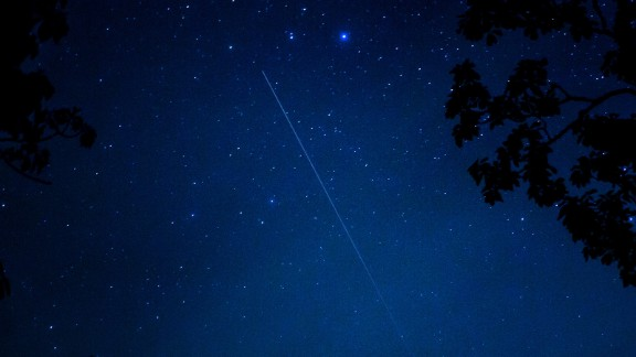 """Jason Walle was photographing the meteor shower in Cashiers, North Carolina, and says it was a bust in terms of the number of sightings. """"Despite that, it was pretty amazing to see it since it was the first shower for this comet,"""" he said."""