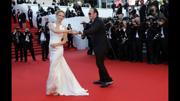 Uma Thurman and Quentin Tarantino.