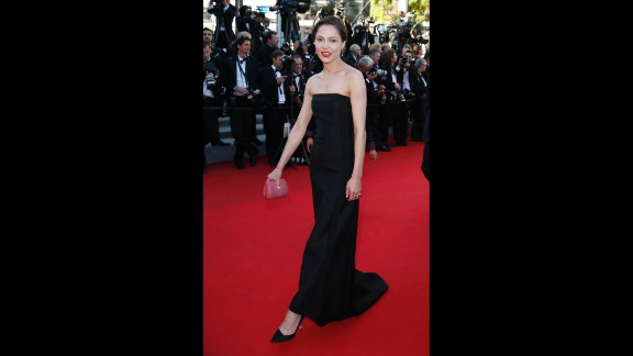 Elena Lyadova walks the red carpet.  The Cannes Film Festival culminated Saturday night with the glittering award show for the festival's top honors.