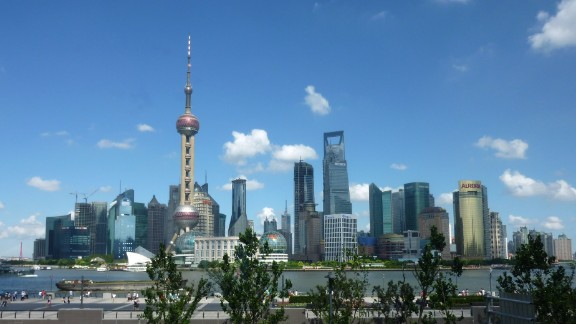 Joanne Huang was visiting Shanghai, China, when she photographed the Oriental Pearl Tower. The TV tower is an iconic building located in the Bund district, near the Huangpu River.