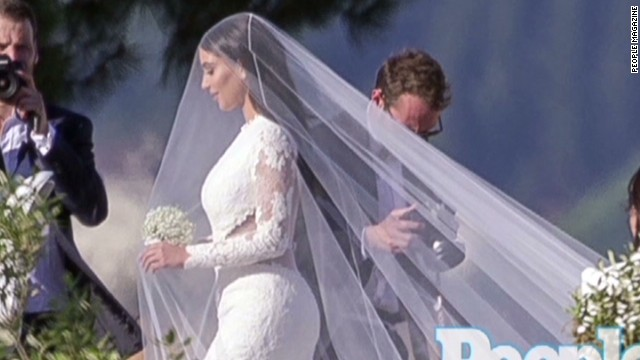 See Kim Kardashian In Her Wedding Dress
