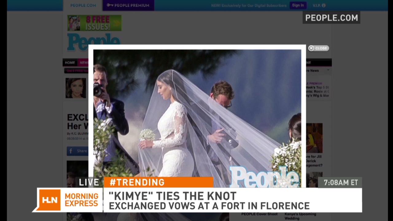 See Kim Kardashian In Her Wedding Dress Cnn Video