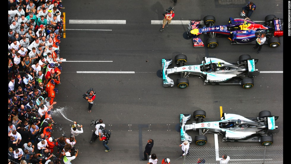 Round six: Monaco mayhem saw Rosberg survive an investigation into claims he had impeded Hamilton in qualifying. He went on to win the race and regain the championship lead.