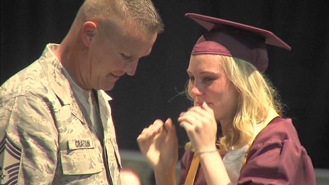 pkg deployed military dad surprises daughter graduation _00014118.jpg