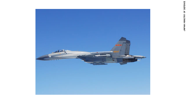 An image of a Chinese fighter jet released by Japan's Defense Ministry after the incident.