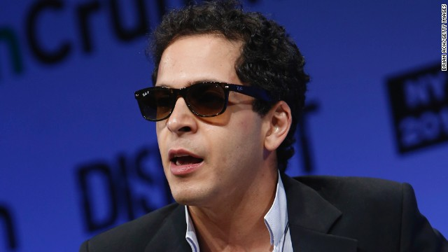 Mahbod Moghadam, co-founder of Rap Genius, speaks at a tech conference in New York City in 2013.