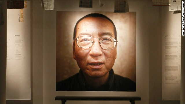 This picture taken on December 10, 2010 shows an exhibition at the Nobel Peace Center in Oslo highlighting this year's Nobel Peace Prize laureate, Liu Xiaobo, a few hours before its opening. Confusion over which countries would attend the peace prize ceremony for jailed Chinese dissident Liu Xiaobo grew Friday just hours before the event with organisers adding more names to the list. AFP PHOTO / SCANPIX - Berit Roald (Photo credit should read BERIT ROALD/AFP/Getty Images)