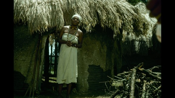 """Angelou acts in a scene from the television miniseries """"Roots"""" in 1977."""