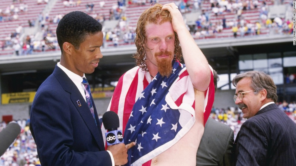 The USA 1994 World Cup was a treasure trove of iconic football styles. The host nation was well represented by Alexi Lalas, a defender whose rugged tackles were matched by his disheveled long locks and wizard-like beard. But even Lalas' admirable shabby chic couldn't save the U.S. jersey...<br />