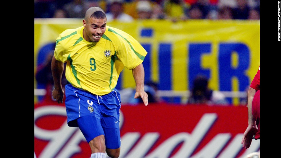 "The eyes of the world were fixed firmly on Ronaldo ahead of Brazil's 2002 World Cup semifinal against Turkey, but for once no one was looking at the striker's feet. The man known as ""Il Fenomeno"" took to the field with what appeared to be an unfinished buzz cut. Whatever the reason behind his partly-shaven scalp, it did the trick. Ronaldo scored the winner against Turkey before finding the net twice in Brazil's 2-0 defeat of Germany in the final, bringing a whole new meaning to the phrase ""getting a Brazilian."""