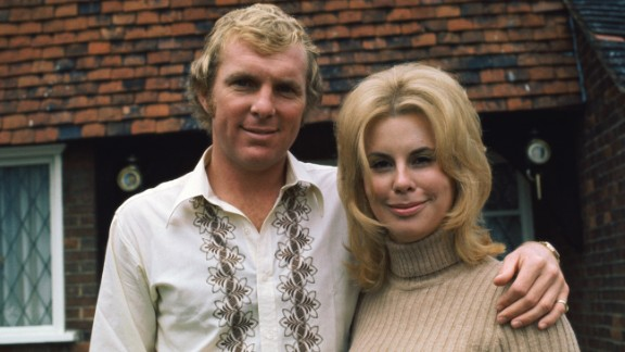 The world of the WAG has come a long way since 1966, when Bobby Moore, pictured here with wife Tina, captained the English team to World Cup glory. The couple divorced in 1986, and after Bobby
