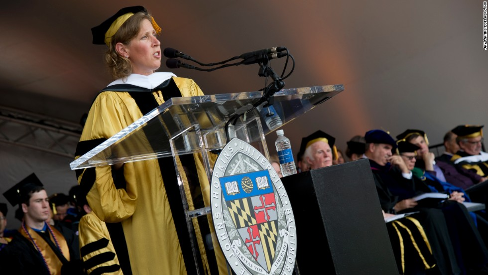 YouTube CEO Susan Wojcicki spoke at Johns Hopkins University's commencement on May 22.