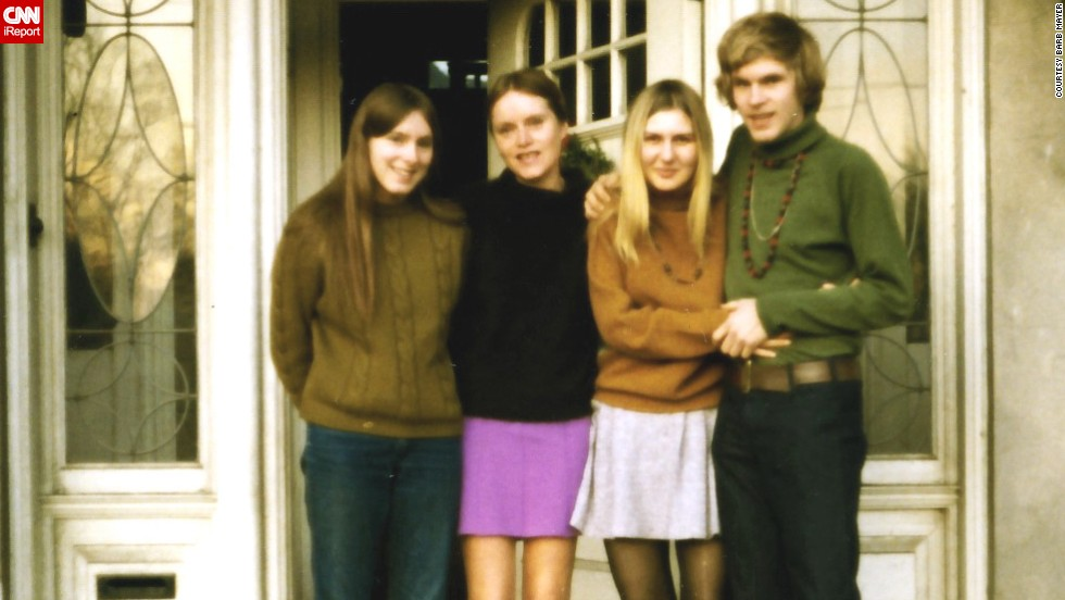 "<a href=""http://ireport.cnn.com/docs/DOC-947935"">Barb Mayer</a> (not pictured) shared this 1969 photo of her sister, far left, her mom, her future sister-in-law and her brother. She says she loved 1960s fashion because ""everything was new and exciting, from different hairstyles (longer hair for men, straight hair for women) to Bohemian/ethnic style clothing ... there was a sense of freedom that you could wear just about anything and get away with it."""