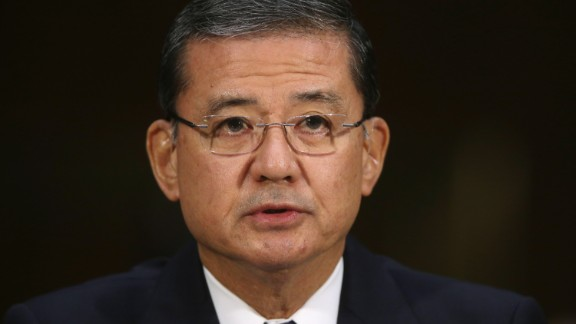 WASHINGTON, DC - MAY 15:  U.S. Veterans Affairs Secretary Eric Shinseki testifies before the Senate Veterans' Affairs Committee about wait times veterans face  to get medical care May 15, 2014 in Washington, DC. The American Legion called Monday for the resignation of Shinseki amid reports by former and current VA employees that up to 40 patients may have died because of delayed treatment at an agency hospital in Phoenix, Arizona.  (Photo by Chip Somodevilla/Getty Images)
