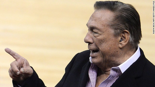 (FILES): This April 21, 2014 file photo shows Los Angeles Clippers owner Donald Sterling attending the NBA playoff game between the Clippers and the Golden State Warriors at Staples Center in Los Angeles, California. According to May 15, 2014 media reports the embattled Los Angeles Clippers owner Sterling, banned for life by the NBA for racist remarks,  does not plan to pay the $2.5 million fine levied by the NBA.   AFP PHOTO / Files /  ROBYN BECKROBYN BECK/AFP/Getty Images