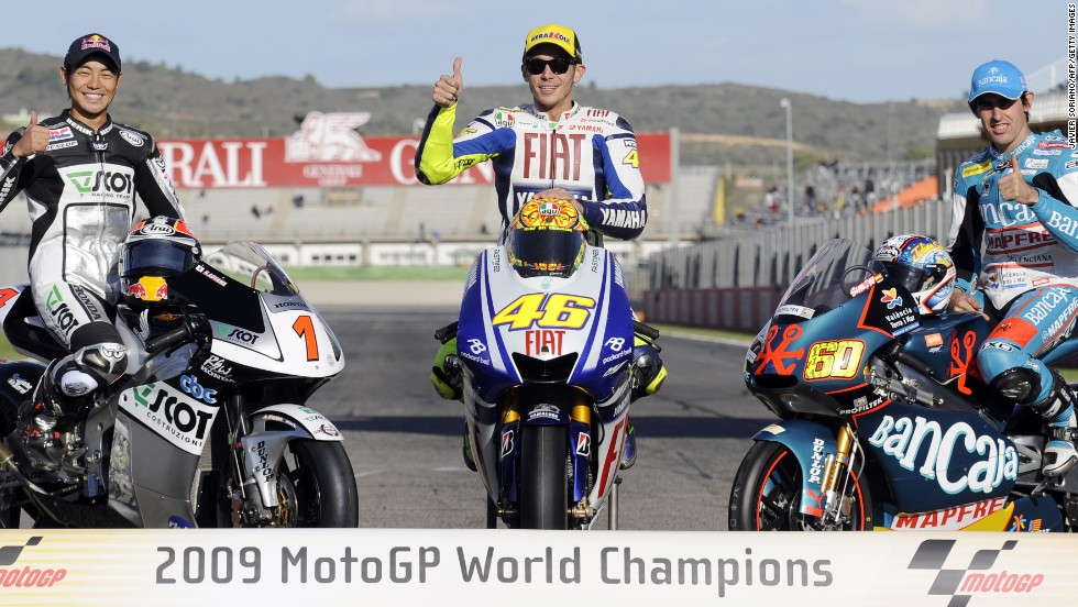 Rossi's last MotoGP title came back in 2009 with Yamaha  -- his seventh at the highest level of motorcycling.