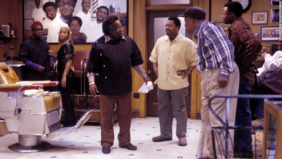 "<strong>""Barbershop"" (2002)</strong> -  Ice Cube, Eve and Cedric the Entertainer star in this comedy about a barbershop in Chicago. (Netflix)"