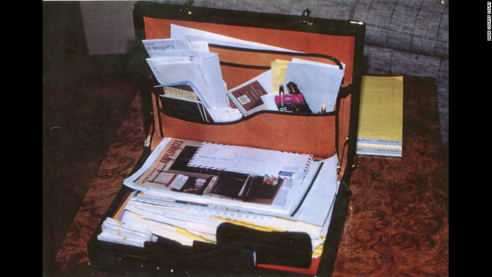 "Defense attorneys say a ""treasure trove of documents"" was contained in a briefcase found at the crime scene. ""We know from the documents in the Moo Young briefcase that they were peddling false letters of credit and skimming money"" from Pablo Escobar's Medellin cocaine cartel, said a court motion filed by Maharaj's defense team."