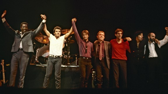 "The legendary E Street Band (L-R: Clarence Clemons, Bruce Springsteen, Garry Tallent, Danny Federici, Max Weinberg, Steven Van Zandt and Roy Bittan, in 1981) were inducted into the Rock Hall in the category for musical excellence. At the ceremony, held in New York last month, Springsteen accepted the honor, saying, ""I thank you my beautiful men and women of E Street. You made me dream and love bigger than I could have ever without you. And tonight I stand here with just one regret: that (the late) Danny (Federici) and Clarence (Clemons) couldn"