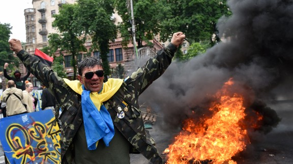 A protester from Kiev