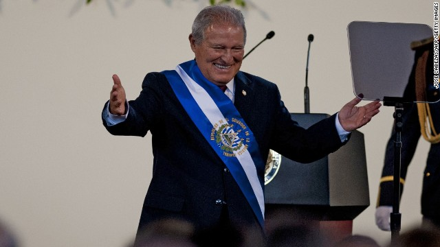 Salvadorean new President Salvador Sanchez Ceren smiles during his inauguration ceremony in San Salvador, El Salvador on June 1, 2014. Sanchez Ceren of the Farabundo Marti National Libertion Front sworn in as a president of El Salvador. AFP PHOTO/ Jose CABEZAS (Photo credit should read JOSE CABEZAS/AFP/Getty Images)