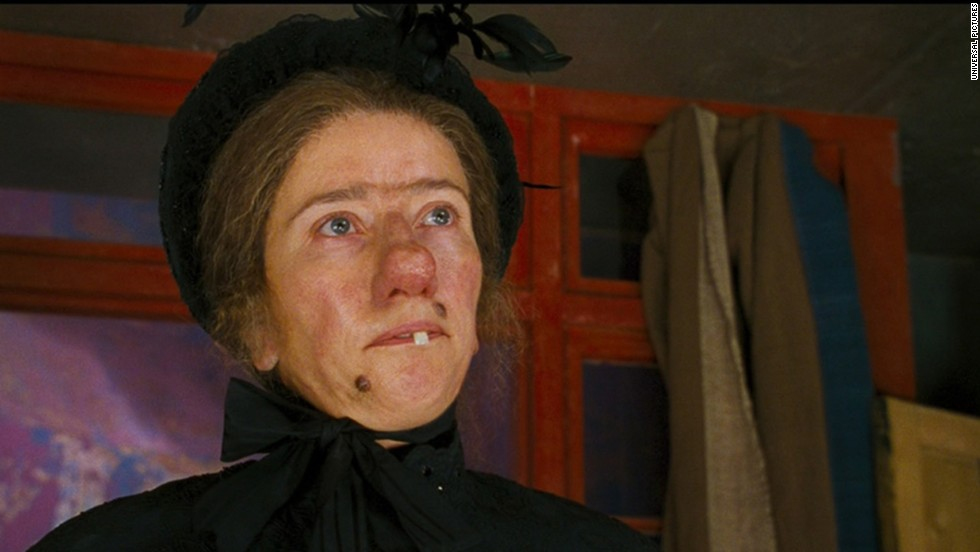 Lots of makeup helped transform Emma Thompson into the magical Nanny McPhee from the 2005 film of the same name.