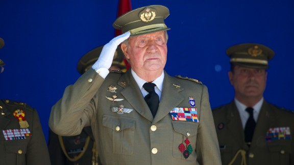 King Juan Carlos of Spain attends the 250 memorial anniversary of the opening of The Royal College of Artillery at the Alcazar de Segovia on May 16, 2014 in Segovia, Spain.