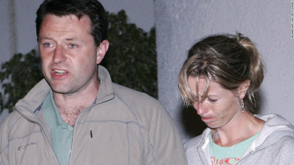 Madeleine's parents, Gerald and Kate McCann, speak to the press in Portugal in May 2007. They launched a massive publicity campaign after their daughter went missing.
